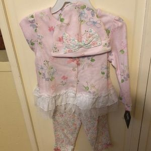 Laura Ashely floral outfit